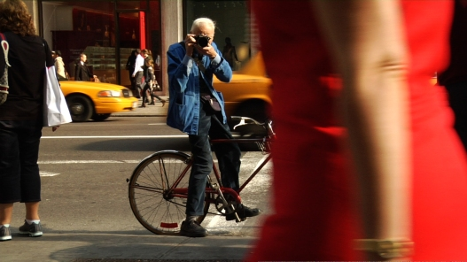 "Bill Cunningham shooting on the street in New York City from the feature-length documentary, ""Bill Cunningham New York,"" ( 2010), directed by Richard Press and produced by Philip Gefter. credit: First Thought Films Contact Philip Gefter: philipgefter@gmail.com"