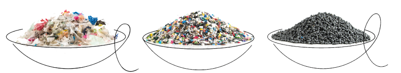 Recycling household plastics into valuable raw materials