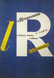 La Rinascente l100_4 Albe Steiner, lR Si riapre il 4 Dicembre 1950 manifesto Archivio la Rinascente Milano