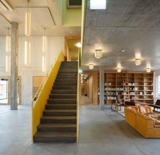 Library, Cooperative Kalkbreite, Zurich, 2014 Müller Sigrist Architekten © Müller Sigrist Architekten Photo: Martin Stollenwerk