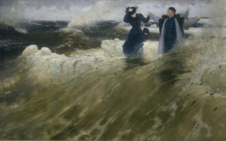 Il'ja Repin, Che vastità!, olio su tela, 1903
