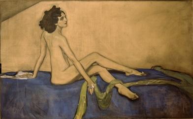 Valentin Serov, Ida Rubinštein, olio e carboncino su tela, 1910