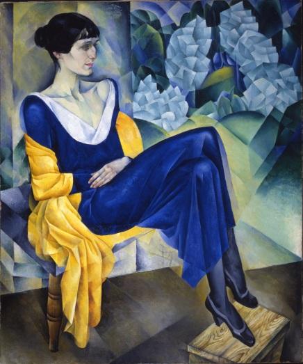 Nathan Alt'man, Ritratto di Anna Achmatova, olio su tela, 1915