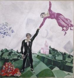Marc Chagall, La passeggiata, olio su tela,