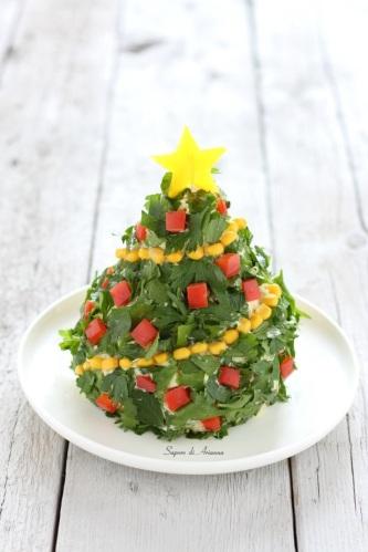 Albero-di-Natale-antipasto-di-insalata-di-riso