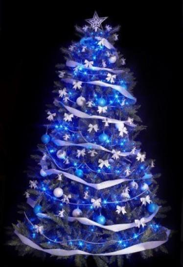 Albero Di Natale Argento E Blu.Albero Di Natale Blu E Argento Rabdo