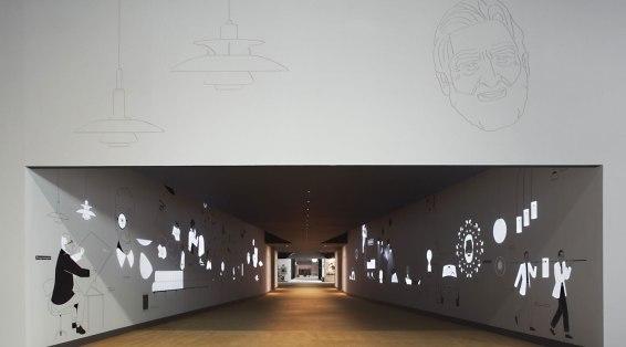 Flos, vista frontale del tunnel interattivo